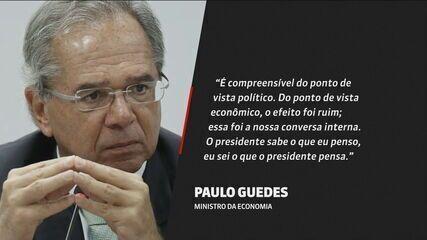 Paulo Guedes: troca na Petrobras teve 'efeito econômico ruim'