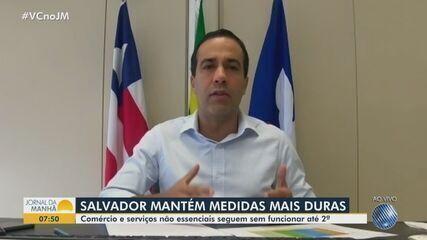 Covid-19: Bruno Reis fala sobre prorrogação das medidas restritivas em Salvador