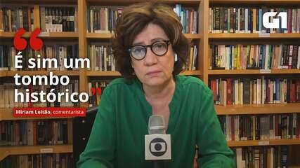 VÍDEO: 'É sim um tombo histórico', diz Miriam Leitão sobre resultado do PIB