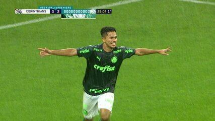 Gol do Palmeiras! Willian cruza, Gabriel Silva chega antes de Gil e marca, aos 25 do 1ºT