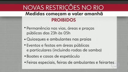 Bares e restaurantes vão fechar às 17h no Rio