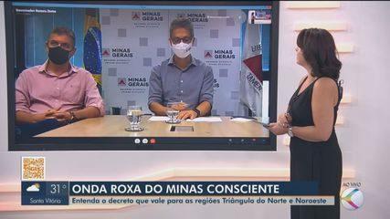 Zema e secretário Estadual de Saúde falam sobre onda roxa para a TV Integração