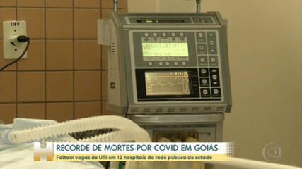 Recorde de mortes por covid em Goiás
