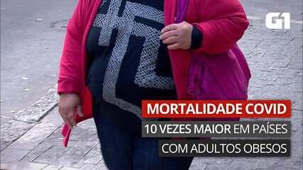 VÍDEO: mortalidade pela Covid é 10 vezes maior em países com maioria dos adultos obesa