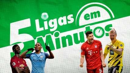5 ligas em 5 minutos: Manchester United tenta parar o City, e Bayern pega o Borussia