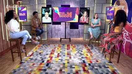 Mesa BBB: Ana Clara e Rhudson Victor recebem Lumena, quinta eliminada do BBB21