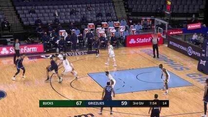 Melhores momentos: Memphis Grizzlies 111 x 112 Milwaukee Bucks pela NBA