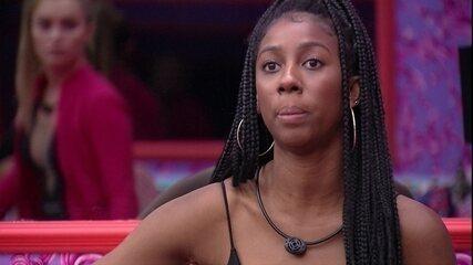 Camilla de Lucas se explica para Carla Diaz no BBB21: 'Se tivessem falando mal de você'