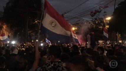 Paraguai tem protestos por má gestão da pandemia