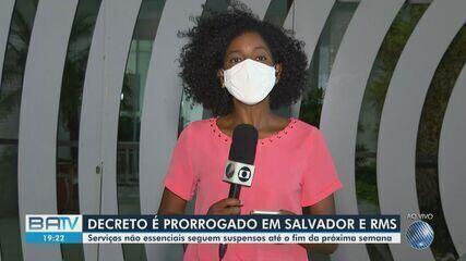Restrições de atividades não essenciais em Salvador e RMS são prorrogadas até 15 de março