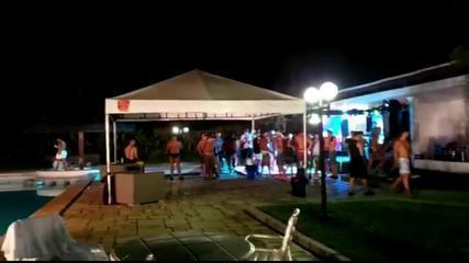 Festa com mais de 100 pessoas é interrompida em Moreno, no Grande Recife