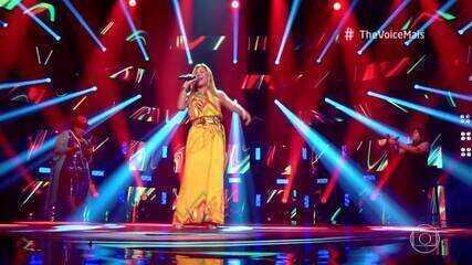 Marisa Mel se apresenta no palco do 'The Voice +'
