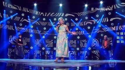 Vera do Canto Mello se apresenta no palco do 'The Voice +'