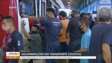 População reclama de aglomerações no transporte coletivo em Manaus