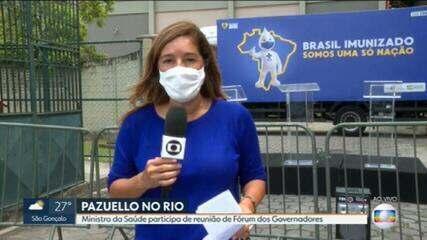Ministro da Saúde participa de reunião na Fiocruz, no Rio