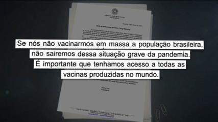 Presidente da Câmara pede ajuda a embaixador da China para garantir vacinas e insumos