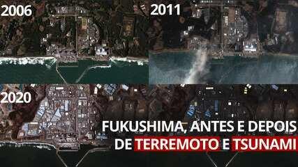 VÍDEO: Veja imagens de Fukushima e cidades próximas 10 anos após desastre