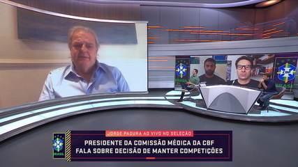 Presidente da Comissão Médica da CBF fala sobre decisão de manter competições