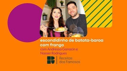 Andressa Ganacin e Nasser Rodrigues ensinam a fazer escondidinho com frango