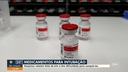 Hospitais de SC relatam escassez de medicamentos para tratar pacientes com Covid-19