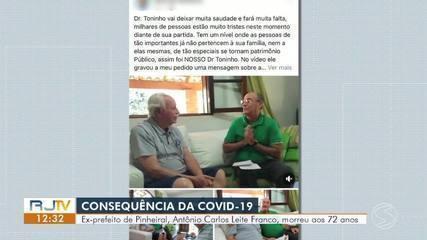 Ex-prefeito de Pinheiral, Doutor Toninho morre em consequência da Covid-19