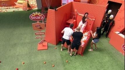 Brothers brincam no Parque Seara em dinâmica do BBB21