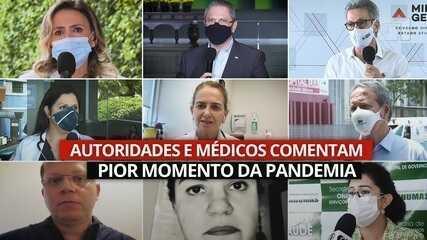 Profissionais de Saúde na linha de frente e autoridades avaliam pior momento da pandemia