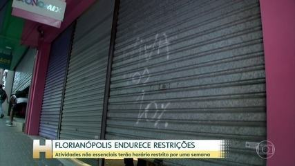 Com sistema de saúde em colapso por causa da pandemia, Florianópolis adota restrições