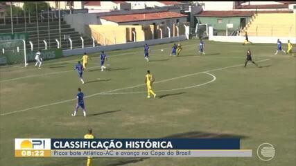Picos vence e avança para próxima fase na Copa do Brasil