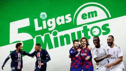 5 ligas em 5 minutos: PSG na expectativa por Neymar, e Real e Barça pressionam Atlético