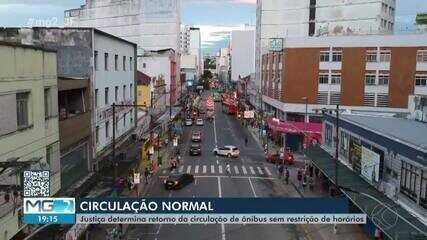 Liminar judicial autoriza ônibus urbanos a voltarem a circular após as 20h em Juiz de Fora