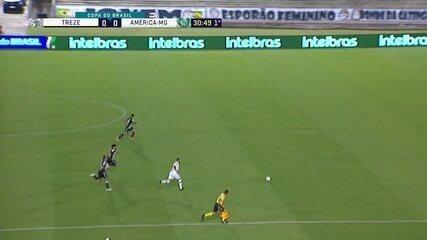 Melhores momentos: Treze 0 x 1 América-MG, pela primeira fase da Copa do Brasil