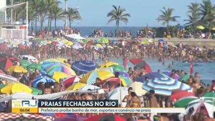 Prefeitura do Rio determina o fechamento das praias da cidade