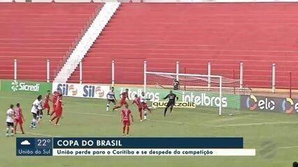 União perde para o Coritiba e se despede da Copa do Brasil
