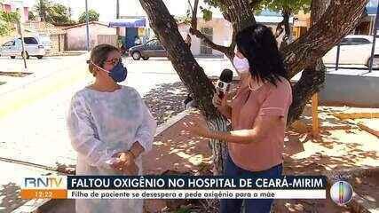 Hospital municipal de Ceará-mirim passa por falta de oxigênio