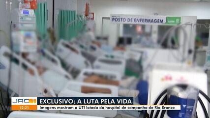 Imagens mostram salas de UTI do Into-AC lotadas em Rio Branco