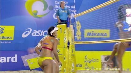 Melhores momentos: Ágatha e Duda 2 x 1 Taiana e Hegê pelo Circuito Brasileiro de Vôlei de Praia
