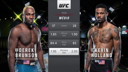 UFC Brunson x Holland - Derek Brunson x Kevin Holland