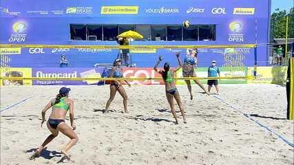 Pontos finais de Ana Patrícia e Rebecca 2 x 1 Taiana e Hegê pelo Circuito Brasileiro de Vôlei de Praia