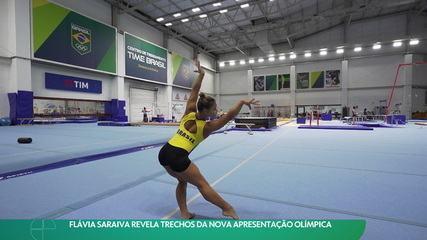 Flávia Saraiva revela trechos da nova apresentação olímpica