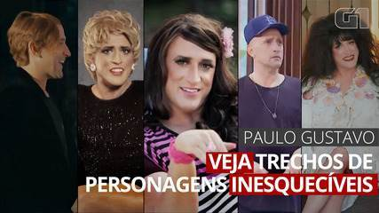 VÍDEO: Paulo Gustavo criou personagens inesquecíveis