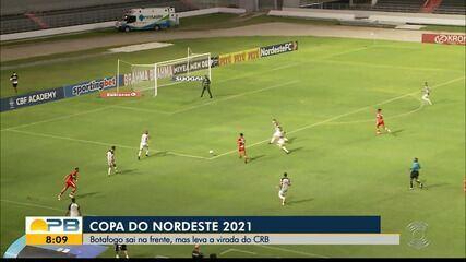 CRB 2 x 1 Botafogo-PB, pela Copa do Nordeste