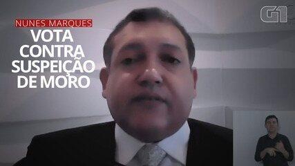 Ministro Nunes Marques vota contra suspeição de Sergio Moro