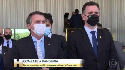 Combate à pandemia: Bolsonaro cria comitê com governadores e Congresso