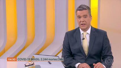 Brasil passa a marca de 300 mil mortes por Covid e registra 2,2 mil mortes em 24 horas