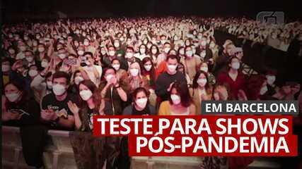 VÍDEO: 5 mil pessoas participam de show em Barcelona para testar eventos pós-pandemia