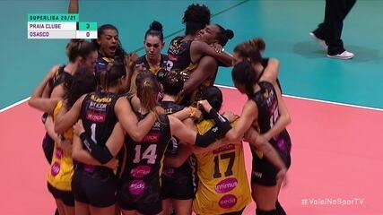 Melhores momentos: Praia Clube 3 x 0 Osasco pela Superliga de Vôlei Feminino