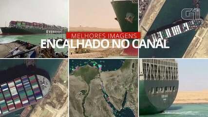 VÍDEO: As principais imagens do meganavio que fechou o canal de Suez por 6 dias