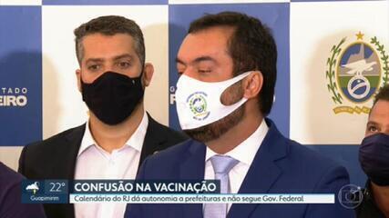 Governo do RJ anuncia calendário único de vacinação
