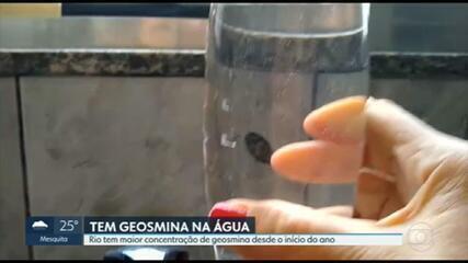 Aumenta concentração de geosmina na água do Rio